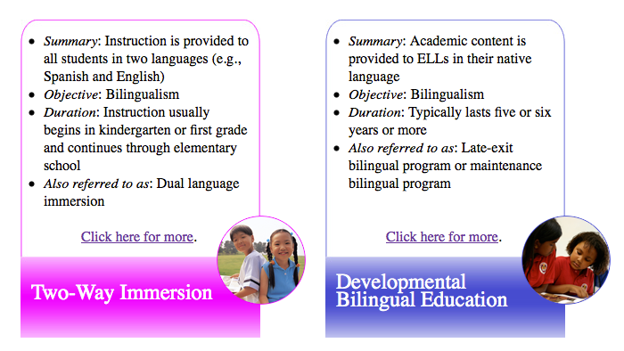 An overview of the disadvantages of the bilingual education programs in english schools