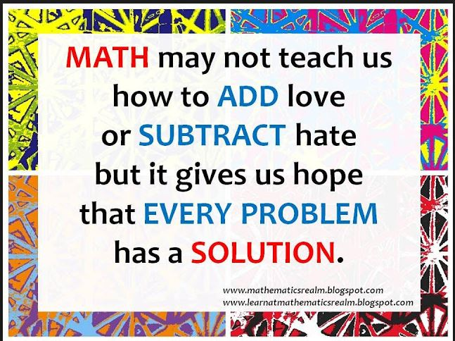 Quotes Math Learning: Part Two: Mathematics